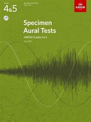 ABRSM Specimen Aural Tests - Grades 4-5 (2011+) Book/2 CDs. Sheet Music, CD Cover