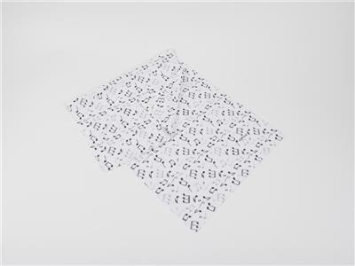 Loop Scarf Notes Black/White 25*50 cm