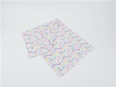 Loop Scarf Notes Colourful/White 25*50 cm