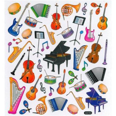 Stickers: Musical Instruments Cover
