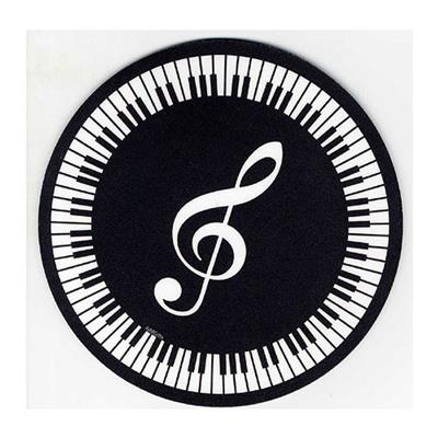 Mouse Mat: Treble Clef And Keyboard Design Cover