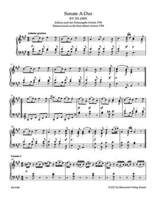 W.A. Mozart: Piano Sonata in A major (K.331). Sheet Music