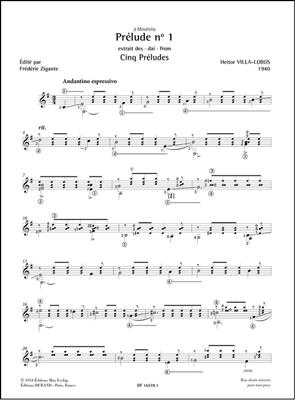 Prélude n° 1 - extrait des Cinq Préludes