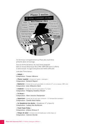 9 Themes Classiques Celebres Anacrouse Vol 3