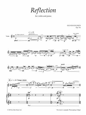 Oliver Knussen: Reflection (Score And Parts)