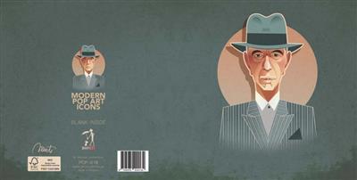 Pop Art Icons Leonard Cohen Card