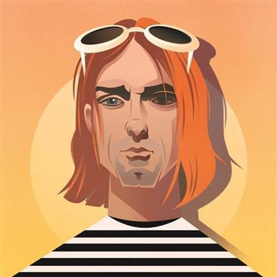 Pop Art Icons Kurt Cobain Card