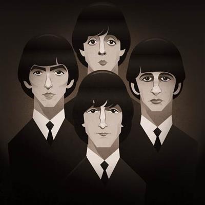 Pop Art Icons The Beatles Card