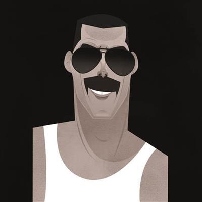 Pop Art Icons Freddie Mercury Card