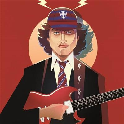 Pop Art Icons Angus Young Card