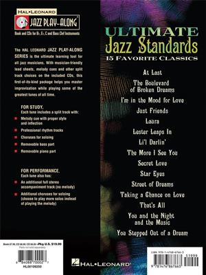 Jazz Play-Along Volume 170: Ultimate Jazz Standards (Book/2 CDs)