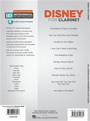 Clarinet Easy Instrumental Play-Along: Disney (Book/Online Audio). Sheet Music, Downloads