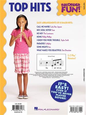 Recorder Fun!: Top Hits - With Easy Instructions And Fingering Chart