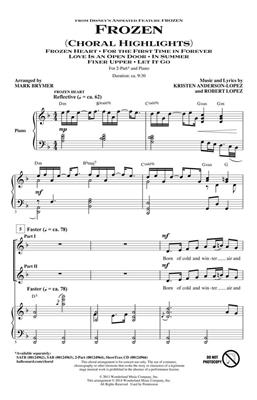 Arr. Mark Brymer: Frozen (Choral Highlights) 2-Part Choir