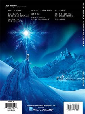 Frozen: Music From The Motion Picture Soundtrack - Vocal Selections. Voice Sheet Music Cover