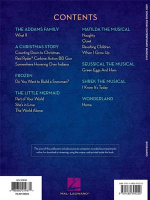 Kids Songs From Contemporary Musicals Book Online Audio