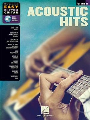 Easy Rhythm Guitar Series Volume 14: Acoustic Hits (Book/Online Audio)