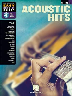 Easy Rhythm Guitar Series Volume 14: Acoustic Hits (Book/Online Audio)