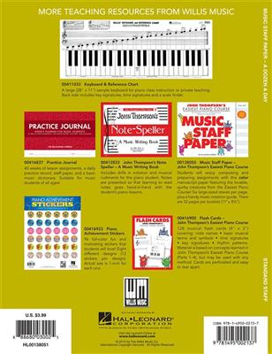 A Dozen A Day: Music Staff Paper