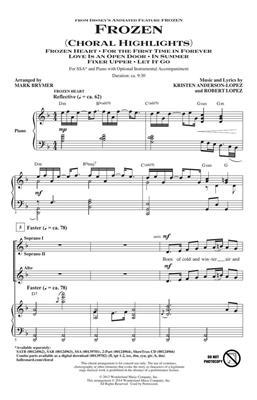 Arr. Mark Brymer: Frozen (Choral Highlights) - SSA. Sheet Music