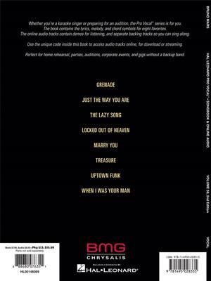 Pro Vocal Men's Edition Volume 58: Bruno Mars (Book/Online Audio)
