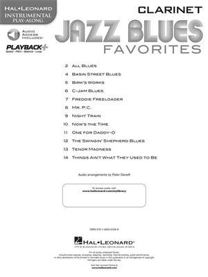 Jazz Blues Favorites - Clarinet
