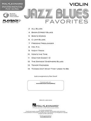Jazz Blues Favorites - Violin