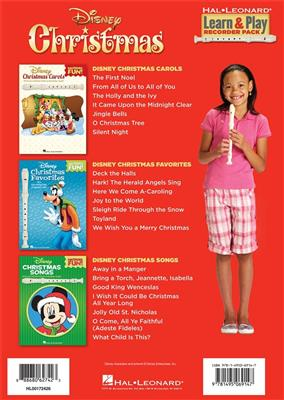 Disney Christmas: Learn And Play Recorder Pack
