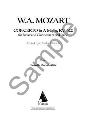 W. A. Mozart: Clarinet Concerto, K. 622 - Critical Urtext Edition