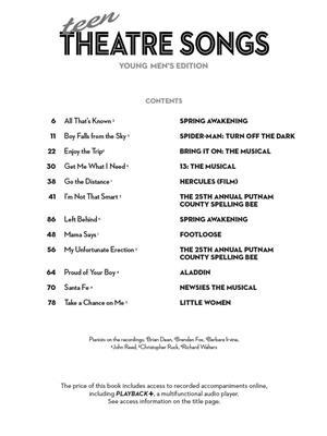 Teen Theatre Songs: Young Men's Edition (Book/Online Audio)