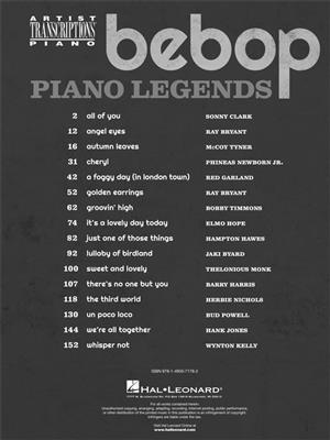 Bebop Piano Legends