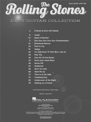 Rolling Stones: Easy Guitar Collection