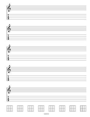 Hal Leonard Ukulele Manuscript Paper
