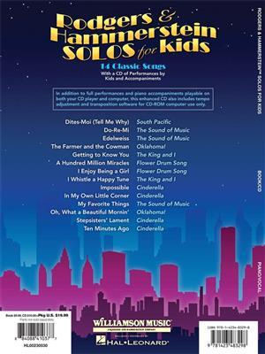Rodgers And Hammerstein Solos For Kids Cover