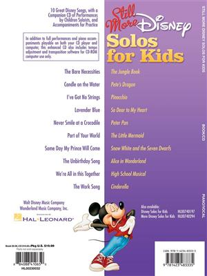 Still More Disney Solos For Kids Cover
