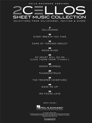 2Cellos: Sheet Music Collection - Selections From Celloverse, In2ition And Score