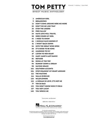 Tom Petty Sheet Music Anthology (PVG)