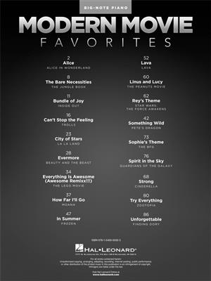 Modern Movie Favourites (Big Note Piano)