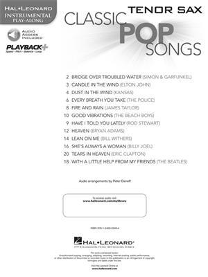 Classic Pop Songs (Tenor Saxophone)