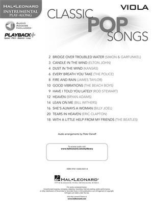 Classic Pop Songs (Viola)