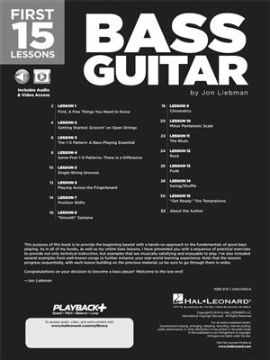 First 15 Lessons Bass Guitar