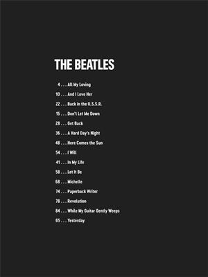 Cover for The Beatles Deluxe Guitar Play Along Volume 4