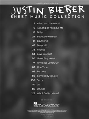 Justin Biebier Sheet Music Collection