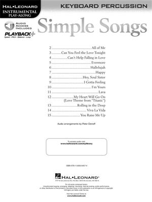 Simple Songs: Keyboard Percussion