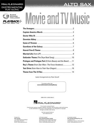 Movie and TV Music: Alto Saxophone
