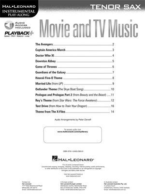 Movie and TV Music: Tenor Saxophone