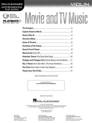Movie and TV Music: Violin