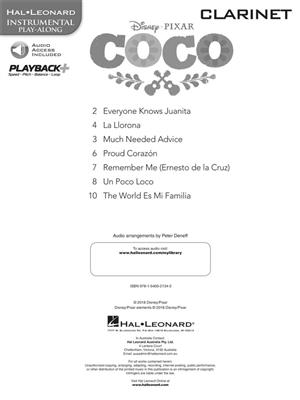 Disney Pixars Coco Instrumental Play Along For Clarinet Book Audio