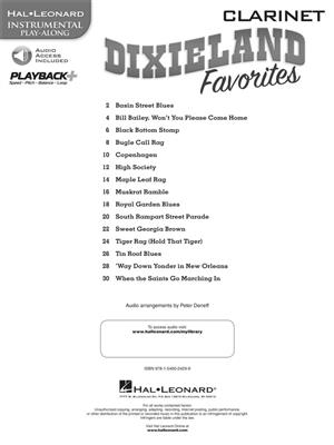 Hal Leonard Instrumental Play-Along: Dixieland Favorites - Clarinet (Book/Online Audio)