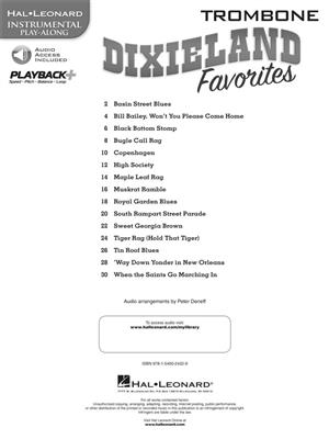 Hal Leonard Instrumental Play-Along: Dixieland Favorites – Trombone (Book/Online Audio)
